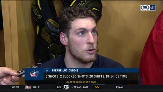 Pierre-Luc Dubois explains how the Blue Jackets are so successful in OT