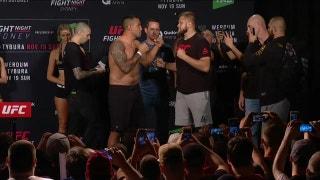 Fabrício Werdum and Marcin Tybura face off at UFC Fight Night weigh-in
