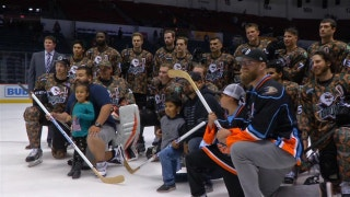 The San Diego Gulls honored US Armed Forces during Military Weekend