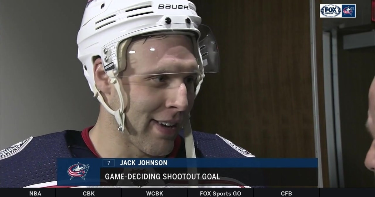Jack Johnson wins it for the Blue Jackets in his home state of Michigan  9ee1d7d03