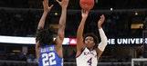 No.4 Kansas tops No.7 Kentucky 65-61 in a nail-biter