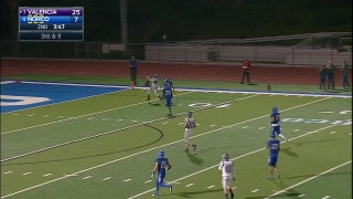 Playoffs, semifinals: Mykael Wright with a 41 yard  catch in the end zone