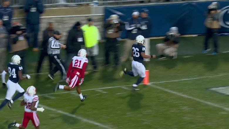 Saquon Barkley takes it 65 yards to the house as No. 10 Penn State leads over Nebraska