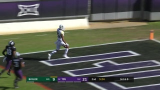 Baylor's Ebner races past TCU defense to take it 58 yards to the house