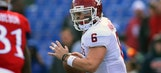 Mayfield's 3 TD passes lead No. 4 Oklahoma to 41-3 rout of Kansas