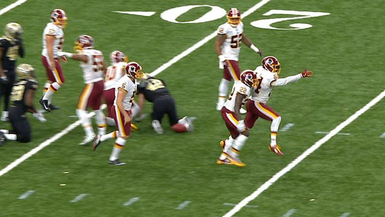 Redskins successfully fake a punt at their own 15