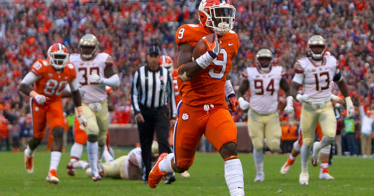 travis etienne and the no 4 clemson tigers claw through the florida
