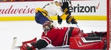 CANES LIVE TO GO: Hurricanes earn shootout victory over Nashville, 4-3.