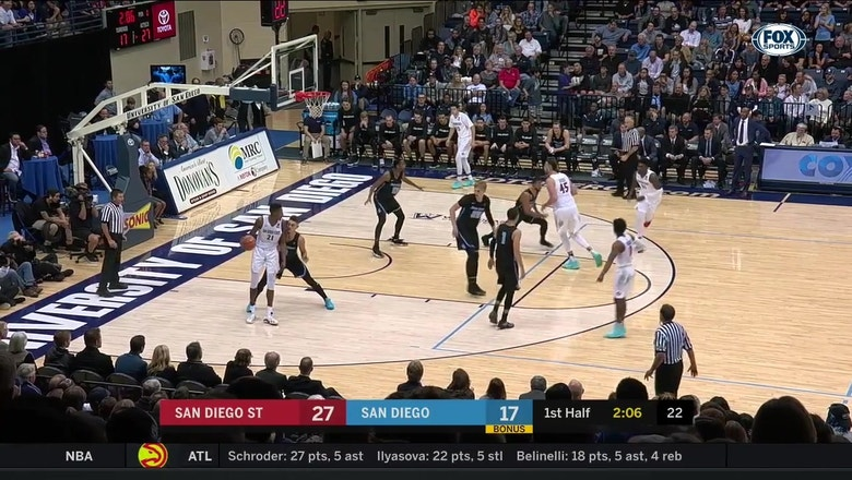 Block leads to a Pineiro layup in transition for the Toreros