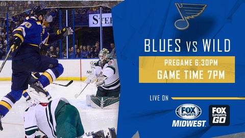 Schwartz scores twice, Blues KO Minnesota Wild