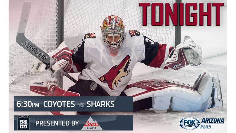 Preview: Coyotes vs. Sharks, 6:30 p.m., FOX Sports Arizona Plus