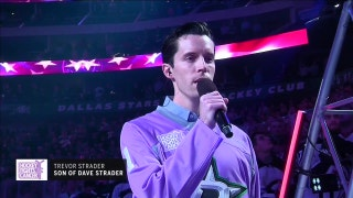 Dave Strader's son, Trevor, sings National Anthem on Hockey Fights Cancer night