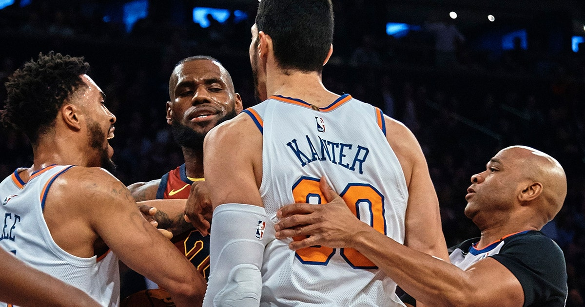 0818620b262 Skip on Enes Kanter defending Frank Ntilikina   I applaud him for getting  in the face of a LeBron James
