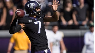 Kenny Hill completes 30-yard TD pass to Jalen Reagor to give TCU a 35-22 lead over Baylor