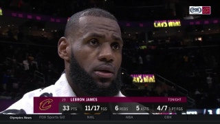LeBron James scores 23 in 4th quarter, gives thanks to teammates
