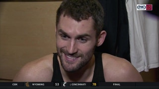Kevin Love knew exactly what to do while James went off in the 4th quarter