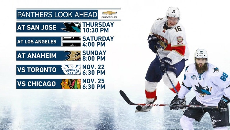 Panthers begin three-game Western Conference-road trip in San Jose