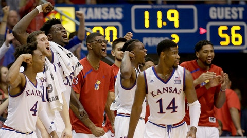 Top 25 basketball: Kansas rolls past Texas Southern