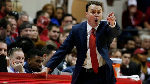 Nov 10, 2017; Bloomington, IN, USA; Indiana Hoosiers coach Archie Miller coaches on the sidelines against the Indiana State Sycamores during the second half at Assembly Hall. Mandatory Credit: Brian Spurlock-USA TODAY Sports