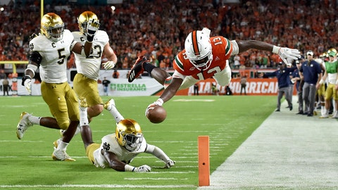 Miami up to #2 in latest AP football poll