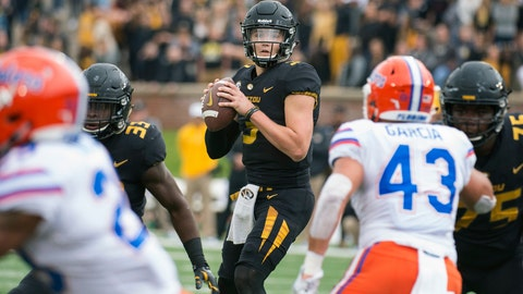 Drew Lock's 31 touchdown passes are the most of any Football Bowl Subdivision player.	 AP