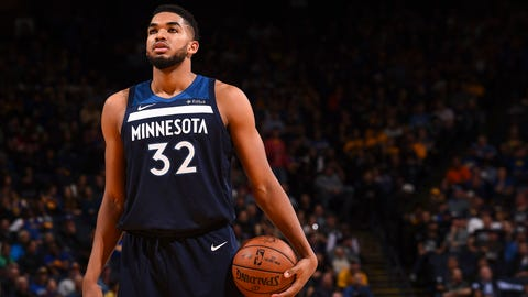 Karl-Anthony Towns, Wolves center (⬇ DOWN)