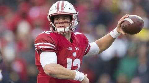 Alex Hornibrook, Badgers quarterback (⬇ DOWN)
