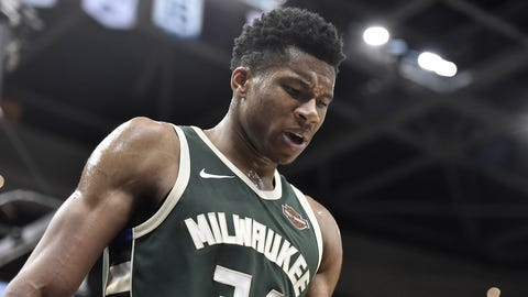 Giannis out for game against the Phoenix Suns with knee soreness