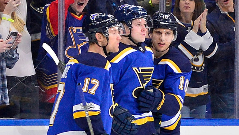 Blues' top line leads the way in 8-3 rout of Oilers