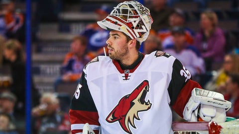 Coyotes trade Louis Domingue to Tampa Bay Lightning