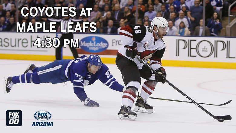 Preview: Coyotes at Maple Leafs, 4:30 p.m., FOX Sports Arizona