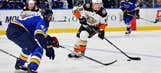 Gibson's 37 saves help Anaheim beat Blues 3-2