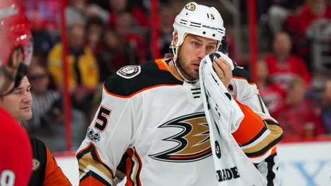 Ouch: Ryan Getzlaf out two months after cheekbone surgery