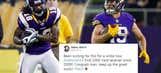 Top Tweets: Sidney Rice congratulates Vikings' Adam Thielen on milestone