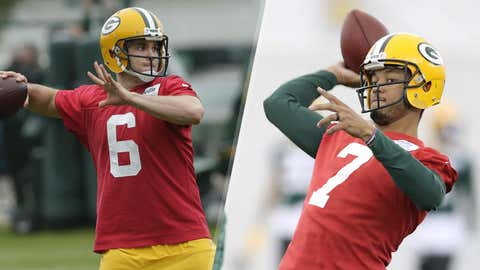 Brett Hundley and Joe Callahan, Packers quarterbacks (↓ DOWN)