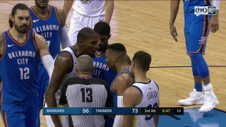 WATCH: Westbrook, Durant heated exchange in Thunder win over Warriors