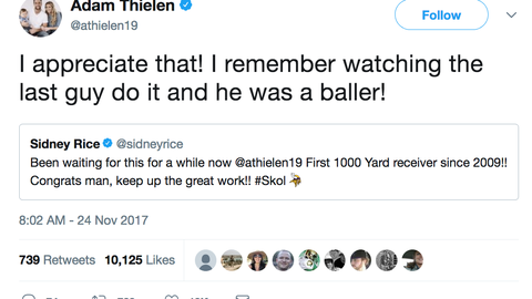 Adam Thielen, Vikings receiver