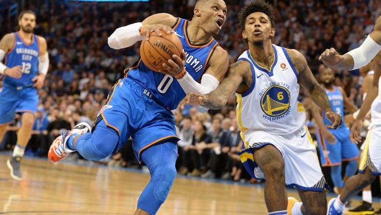 Westbrook, Thunder dominate Durant, Warriors 108-91