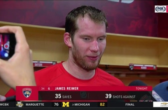 Panthers goalie James Reimer on the high-scoring victory