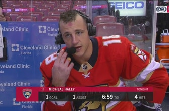 Michael Haley proud to score game-winner for Panthers