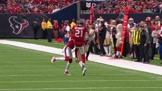 San Francisco's Kyle Juszczyk hauls in crazy catch between two Houston defenders