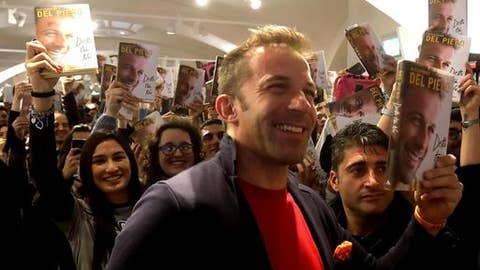 "Italian former soccer star Alessandro Del Piero, is surrounded by fans during the presentation of his book ""Detto tra noi"" (Between us) in Milan, Italy, Friday, Dec. 1st, 2017. (Matteo Bazzi/ANSA via AP)"