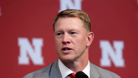 New Nebraska head NCAA college football coach Scott Frost speaks during a news conference in Lincoln, Neb., Sunday, Dec. 3, 2017. Frost is returning to Nebraska after orchestrating a stunning two-year turnaround at Central Florida. The native son quarterbacked the Cornhuskers to a share of the national championship 20 years ago. His hiring has been long anticipated by fans clamoring for the program to return to the so-called Nebraska Way. That culture yielded unprecedented success from the 1960s to 1990s under Hall of Fame coaches Bob Devaney and Tom Osborne. (AP Photo/Nati Harnik)