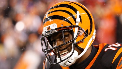 Cincinnati Bengals wide receiver A.J. Green reacts to a call in the second half of an NFL football game against the Pittsburgh Steelers, Monday, Dec. 4, 2017, in Cincinnati. (AP Photo/Frank Victores)