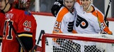 Flyers snap 10-game skid with 5-2 win over Flames