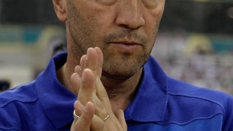 FILE - In this Sunday, Oct. 24, 2010 file photo, Saudi's Al Nasr team coach Italian Walter Zenga attends his team game against Al Hilal during their Saudi Professional league at King Fahd Stadium in Riyadh, Saudi Arabia. Former Italy goalkeeper Walter Zenga has been named coach of relegation-threatened Crotone. Zenga replaced Davide Nicola, who resigned unexpectedly Wednesday after an apparent clash with club management. (AP Photo/Hassan Ammar, File)