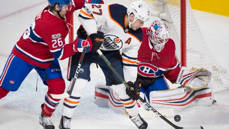 Khaira scores 2 as Oilers beat struggling Canadiens 6-2