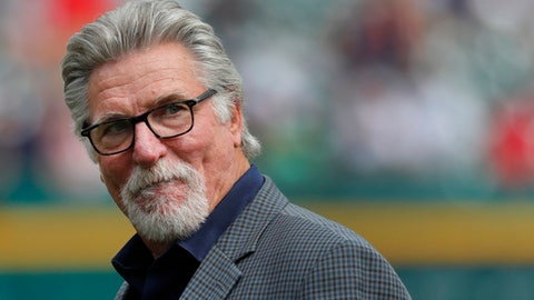 Former Detroit Tigers pitcher Jack Morris watches a baseball game between the Detroit Tigers and Chicago White Sox in Detroit, Saturday, June 3, 2017. (AP Photo/Paul Sancya)