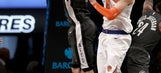Knicks hold on to beat Nets after Porzingis leaves