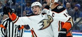 Roy scores 2 in return from minors, Ducks down Blues 3-1